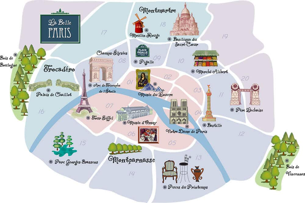 Paris-Arrondissement-Map