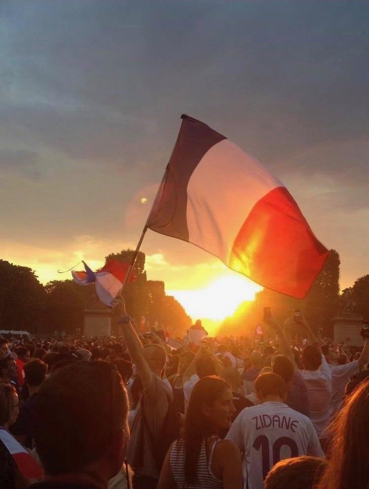 French-Flag-Paris-Sunset