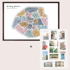 Paris-Gift-Set-Poster-Postcards