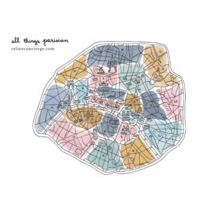 Paris-Arrondissement-Map-Color-illustrated-Celine-Concierge